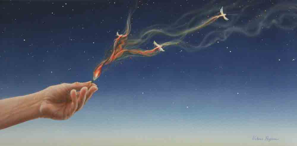 Valerie Rogers painting of the magic of a birth of a dream