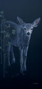 baby deer painting by Valerie Rogers