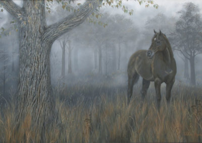 Misty Morning 4feet x6feet, contact artist