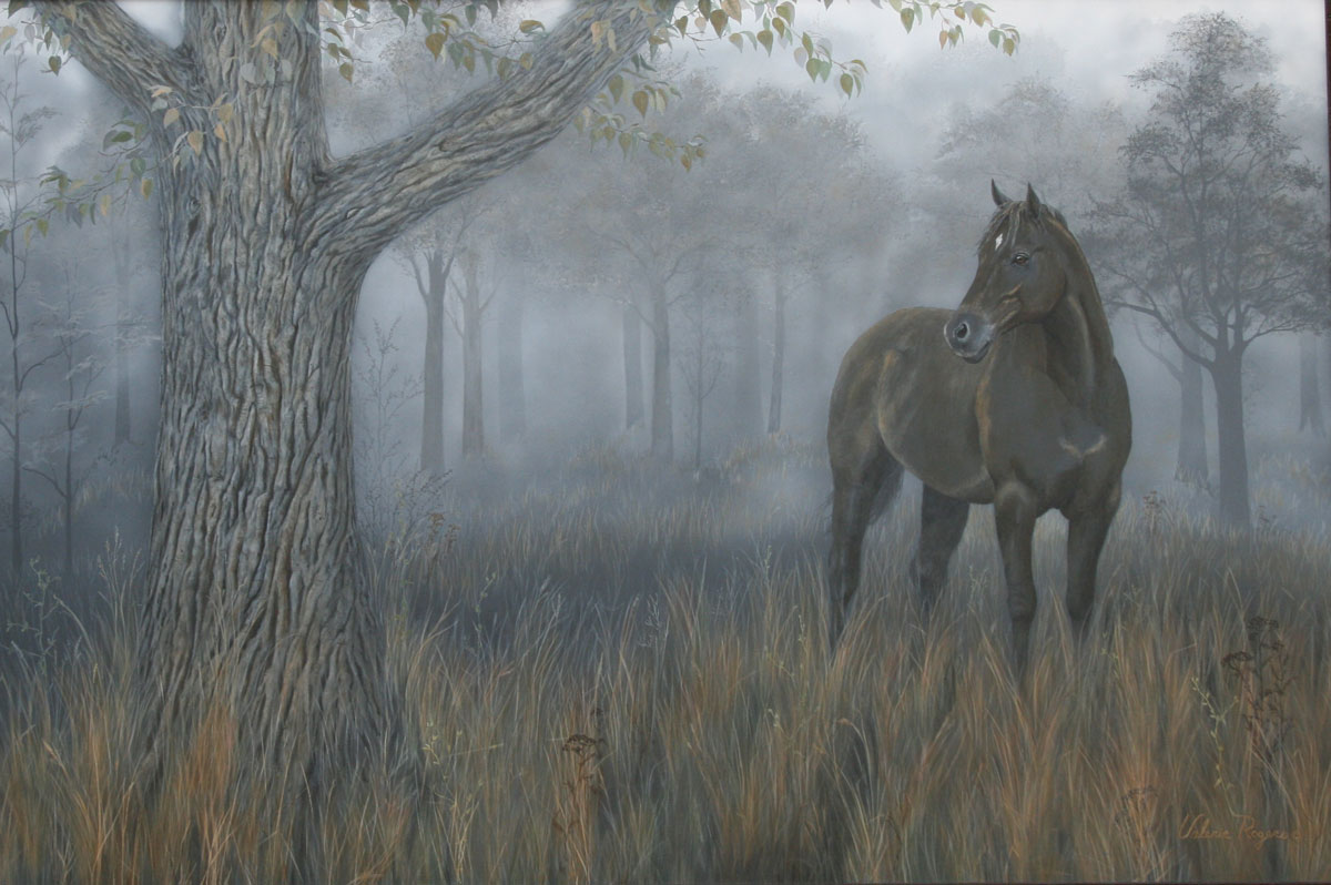 Valerie Rogers painting of her horse