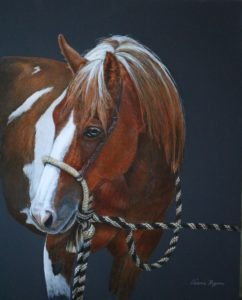 Valerie Rogers painting of a painted pony