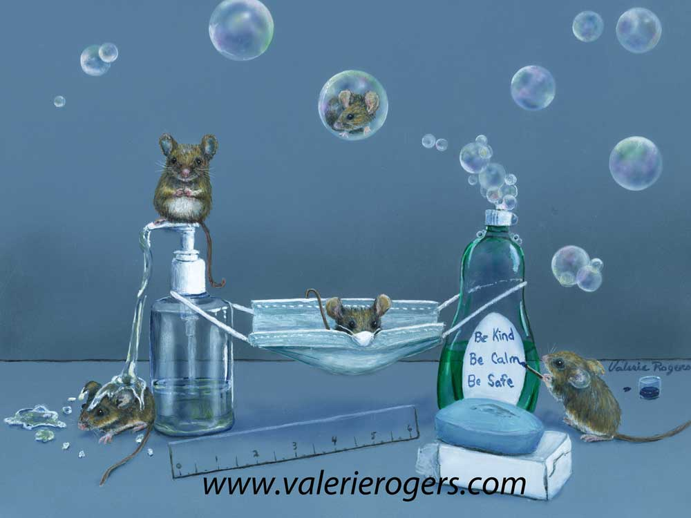 2020 KCS Mice painting by Valerie Rogers