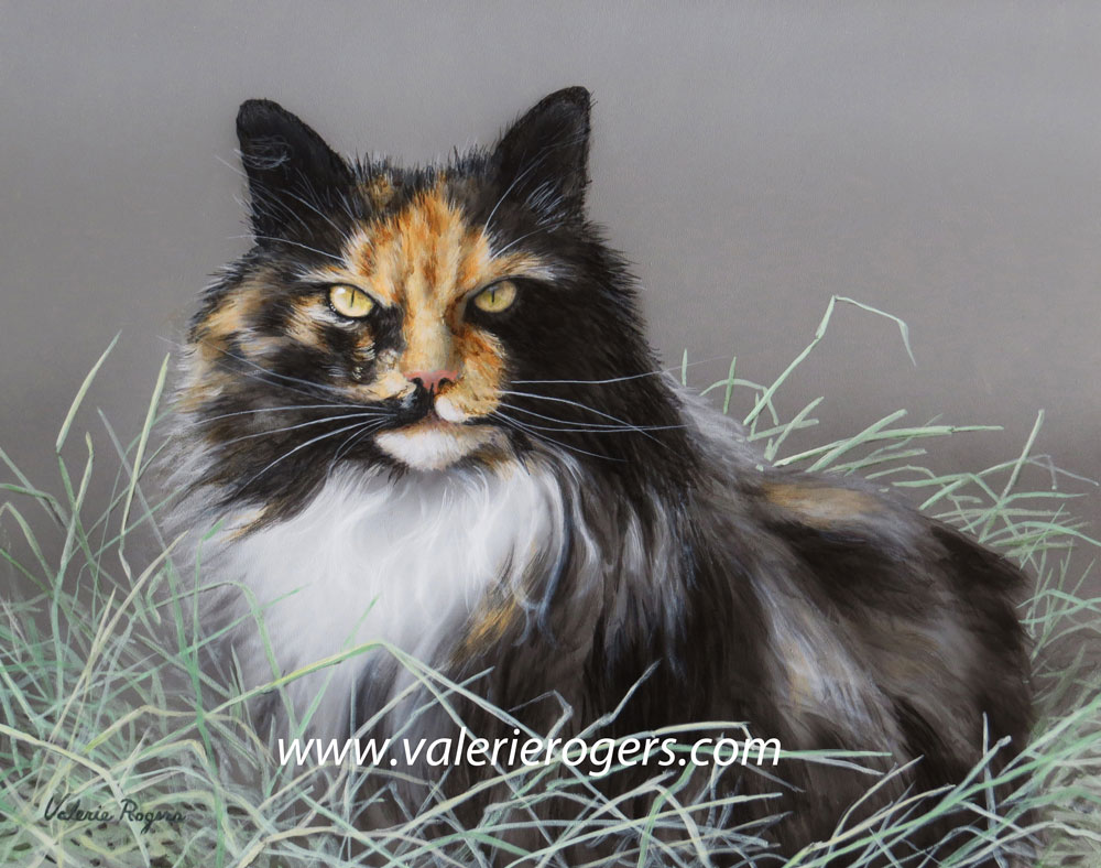 Barn Boss Cat painting by Valerie Rogers
