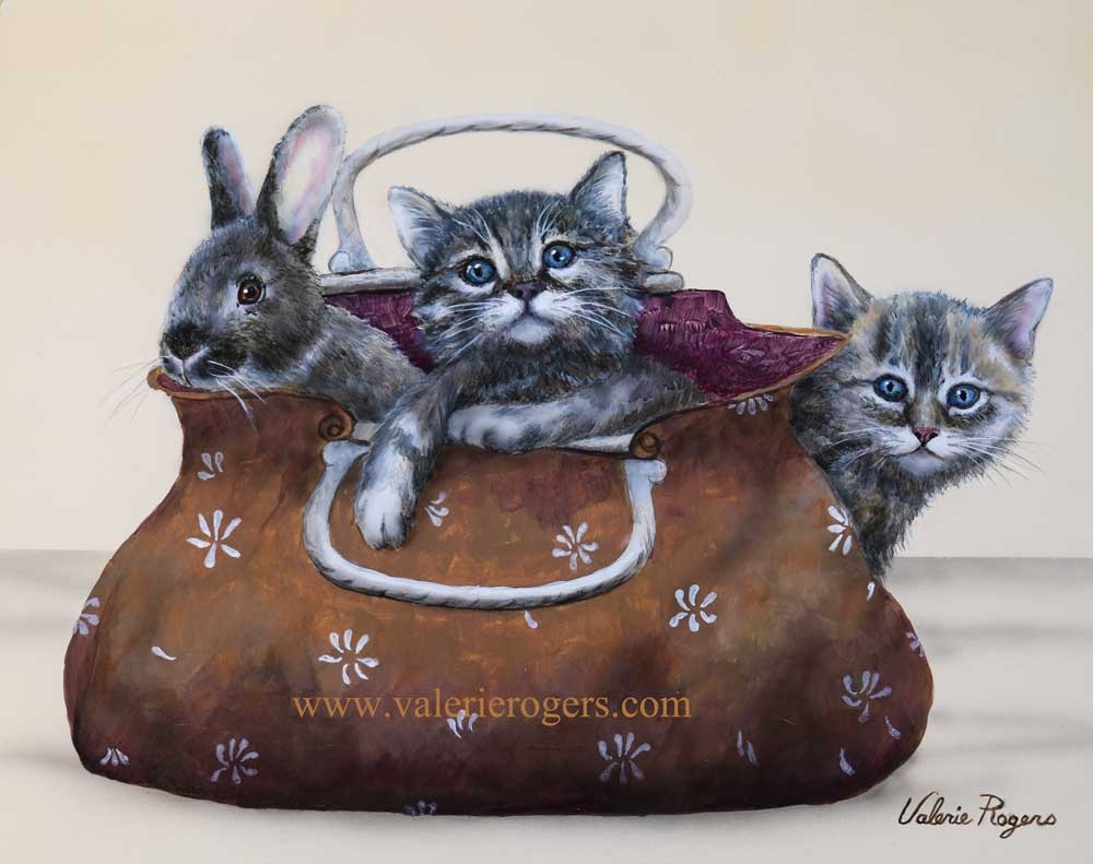 Pet Purse Painting by Valerie Rogers